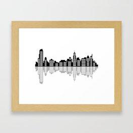 chicago skyline Framed Art Print