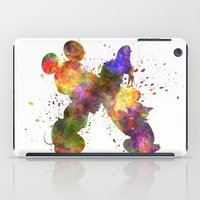 donald duck iPad Cases featuring Mickey Mouse and Donald Duck in watercolor by Paulrommer