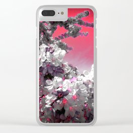 Flowers Purple Fuchsia Hot Pink Clear iPhone Case