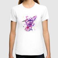 splatter T-shirts featuring Hummingbird Splatter by Ludwig Van Bacon