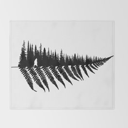 Forest Fern Throw Blanket