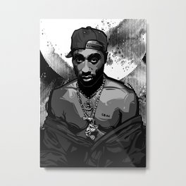 Tupac 2 Metal Print