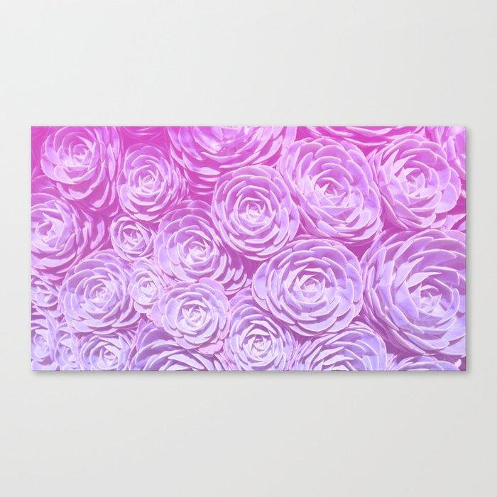Succulent Love Canvas Print