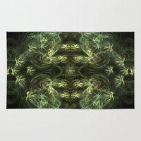 green pattern Area & Throw Rugs featuring Green pattern by Armine Nersisian