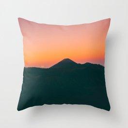 Mount Bromo, Pasuruan, East Java, Indonesia Throw Pillow