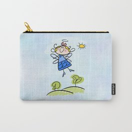 Happy Flying Angel Illustration Carry-All Pouch