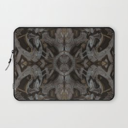 Curves & lotuses, black, brown and taupe Laptop Sleeve