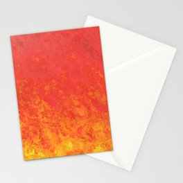 Orangy Fire Stationery Cards