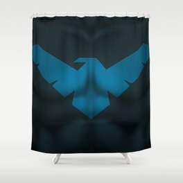 Nightwing2: Superhero Art Shower Curtain