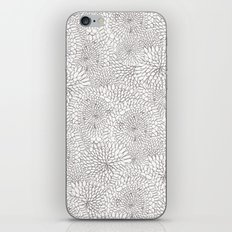 Flowers in lines iPhone & iPod Skin