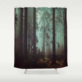 Shadows in the morning mist  Shower Curtain