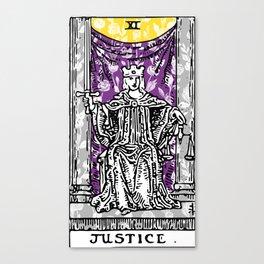 Floral Justice Print Canvas Print