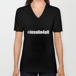 #insulin4all Unisex V-Neck