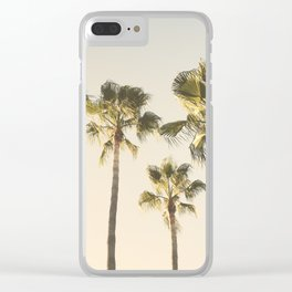 Palms. At the beach. Loving summer Clear iPhone Case