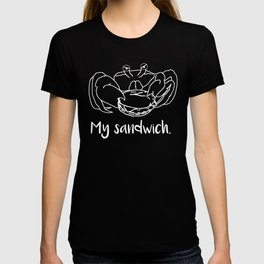 Crab My Sandwich Funny Crab Eating a Sandwich T-shirt
