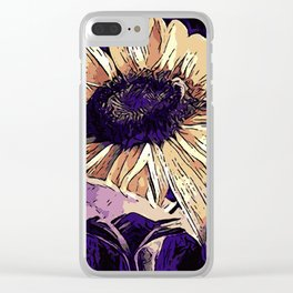 Sunflower B1 Clear iPhone Case