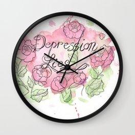 Depression Lies Wall Clock