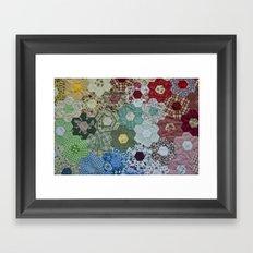 patchwork-design Framed Art Print