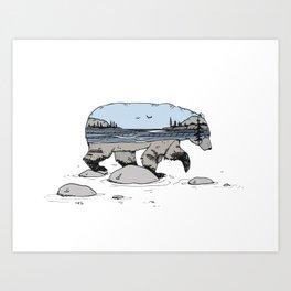 """Wild Within"" Bear Art Print"