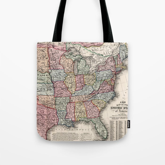 Vintage United States Map (1860) Tote Bag by vuramedia on map of america in 1860, united states flag in 1860, blank united states in 1860, number of american states in 1860, south america map in 1860, union states in 1860, united states postal service in 1860, map of usa in 1860, northern states in the us in 1860, united states of america in 1860, us map in 1860, india map in 1860, map of europe in 1860, texas map in 1860, map of western states in 1860, states and capitals in 1860,