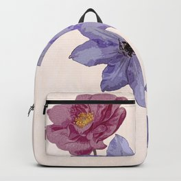 The climbers - rose and clematis Backpack