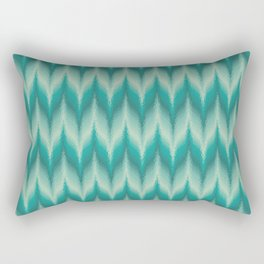 Bargello Pattern in Teal and Turquoise Rectangular Pillow