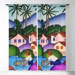 Classical Masterpiece 'An Angler' by Tarsila do Amaral Blackout Curtain
