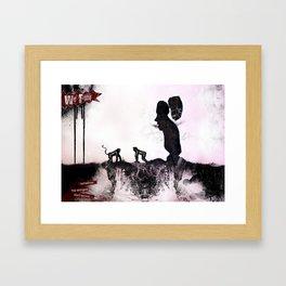 We Fight Framed Art Print