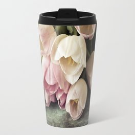 Vintage Tulips Travel Mug