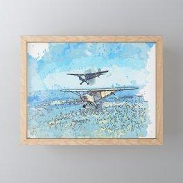 Piper J-3C-65-8 Cub NX38505 in the foreground and Stinson O-49 Vigilant 1941 Framed Mini Art Print