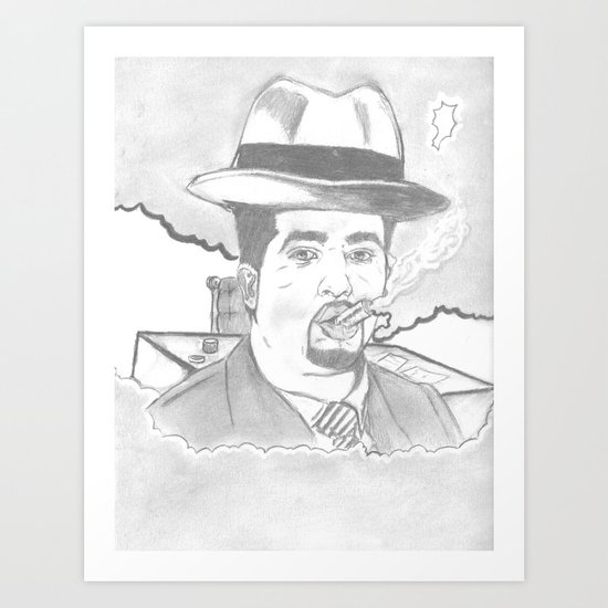 smoke of 40s Art Print