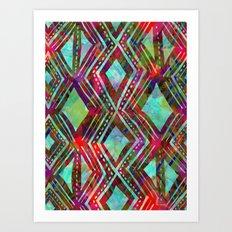 KENYA - Aqua Art Print