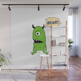 Roar! Monster! Wall Mural