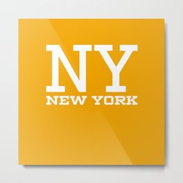 NY New York City Metal Print