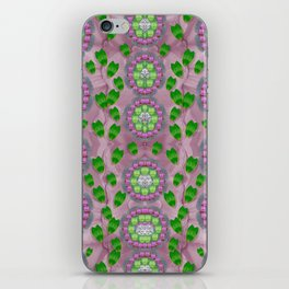 ivy and  holm-oak with fantasy meditative orchid flowers iPhone Skin