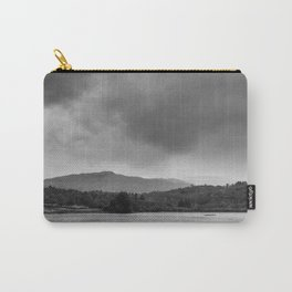 Rainclouds and rain over Rydal Water at dusk. Lake District, UK. Carry-All Pouch