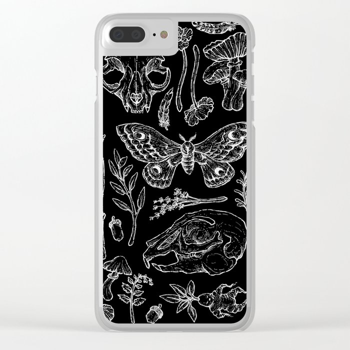 Witchcraft II [B&W] Clear iPhone Case