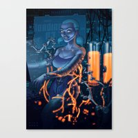 android Canvas Prints featuring Android by Nicolas Villeminot