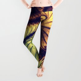 Abstract spirals and patterns Leggings