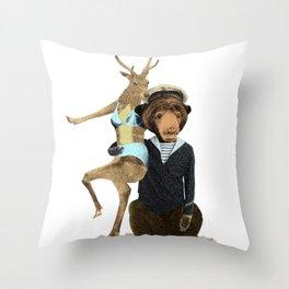 Happy Sailor Throw Pillow