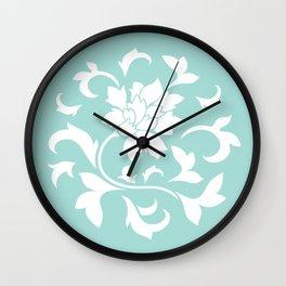 Oriental Flower - Limpet Shell Circular Pattern Wall Clock