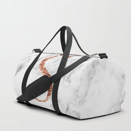 Monogram rose gold marble S Duffle Bag