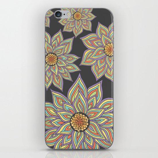 Floral Rhythm In The Dark iPhone & iPod Skin