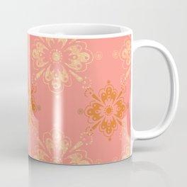 Ornament in Peach and Gold Coffee Mug
