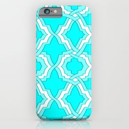 Grille No. 1 -- Cyan iPhone Case
