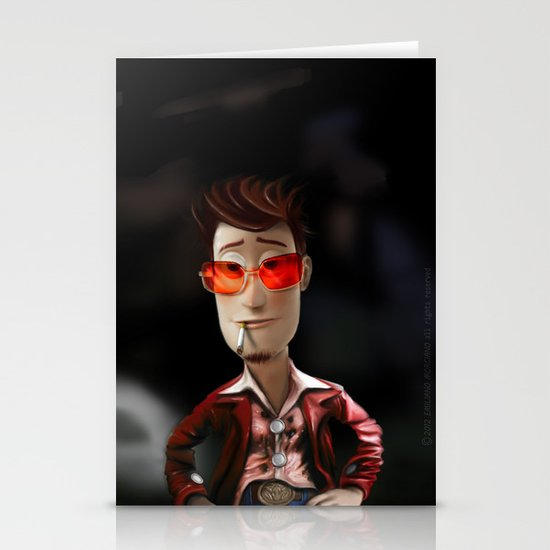 Hit me has hard has you can Buzz..!...(Fight Club) Stationery Cards