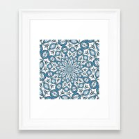 snowflake Framed Art Prints featuring Snowflake by Stay Inspired