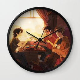 Sunfilled compartment Wall Clock