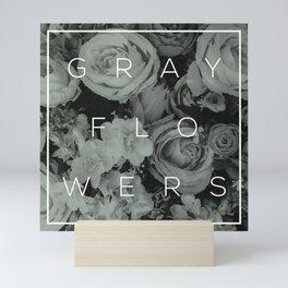 Gray Flowers Mini Art Print