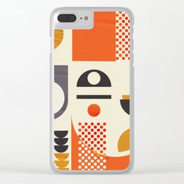 Mid-century no1 Clear iPhone Case